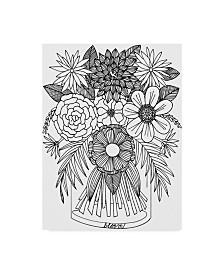 "Laura Miller 'Glass Vase Line Art' Canvas Art - 35"" x 47"""