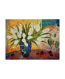 "Lorraine Platt 'Tulips And Cherries' Canvas Art - 47"" x 35"""
