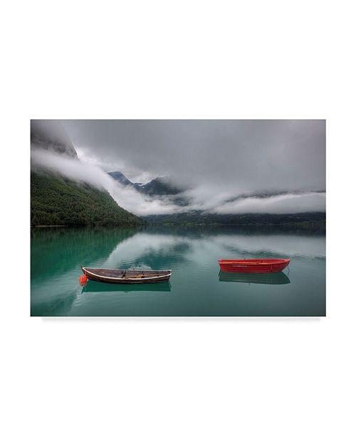 "Trademark Global Maciej Duczynski 'Mountain Rustic Norway 7' Canvas Art - 32"" x 22"""