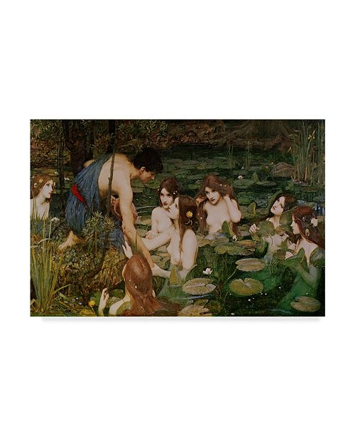 """Trademark Global Masters Collection 'Hylas & The Nymphs' Canvas Art - 32"""" x 22"""""""