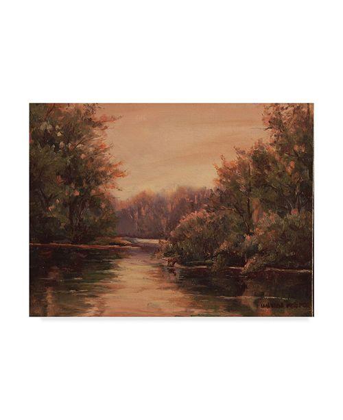 "Trademark Global Wanda Mumm 'Sunrise Lake' Canvas Art - 24"" x 18"""