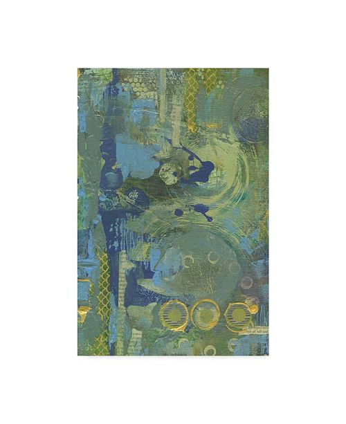 "Trademark Global Maureen Lisa Costello 'Birds In The Mist 3' Canvas Art - 30"" x 47"""