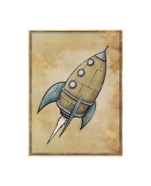 "Trademark Global Michael Murdock 'Rocket' Canvas Art - 24"" x 32"""
