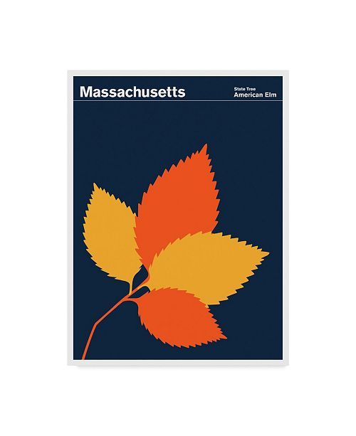 "Trademark Global Print Collection - Artist 'American Elm Massachusetts' Canvas Art - 35"" x 47"""