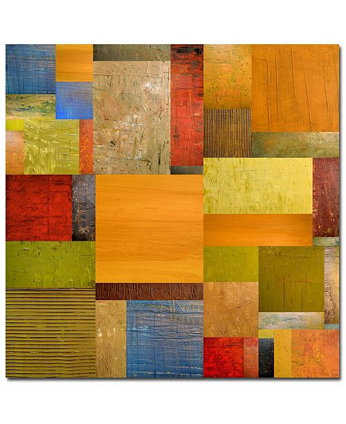 "Trademark Global Michelle Callkins, 'Pieces Project II' Canvas Art - 35"" x 35"""