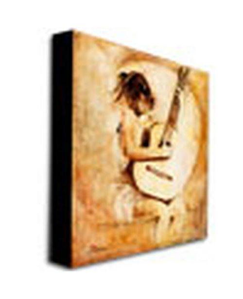 "Trademark Global Joarez 'Soft Guitar' Canvas Art - 47"" x 35"""