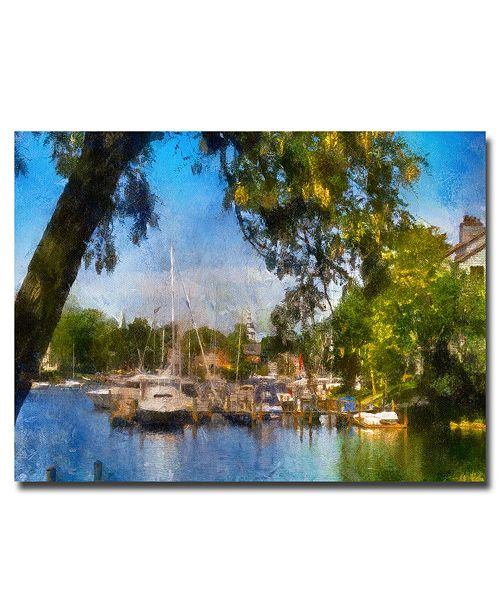 "Trademark Global Lois Bryan 'Spa Creek' Canvas Art - 47"" x 30"""