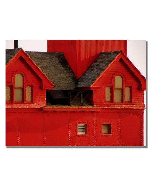 "Trademark Global Michelle Calkins 'Big Red Lighthouse' Canvas Art - 32"" x 22"""