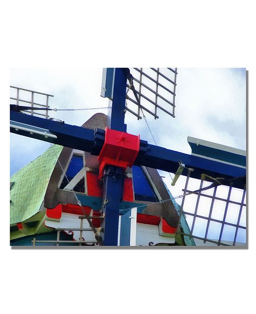 "Trademark Global Michelle Calkins 'Dutch Windmill' Canvas Art - 47"" x 35"""