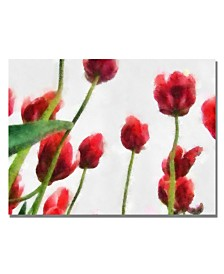"Michelle Calkins 'Red Tulips from Bottom Up II' Canvas Art - 24"" x 18"""