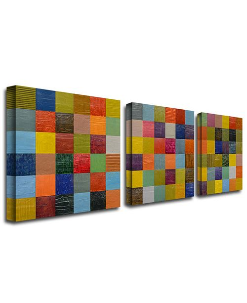 """Trademark Global Michelle Calkins 'Collage Color Study II' Canvas Art - 24"""" x 24"""""""