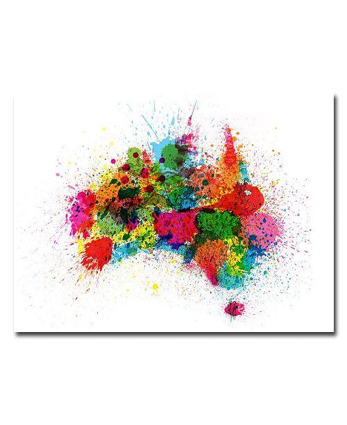 "Trademark Global Michael Tompsett 'Australia Paint Splashes' Canvas Art - 32"" x 24"""