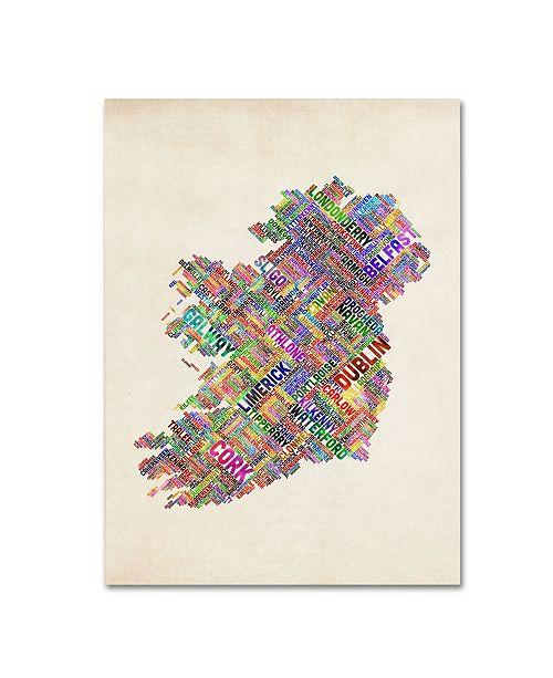 "Trademark Global Michael Tompsett 'Ireland II' Canvas Art - 32"" x 22"""