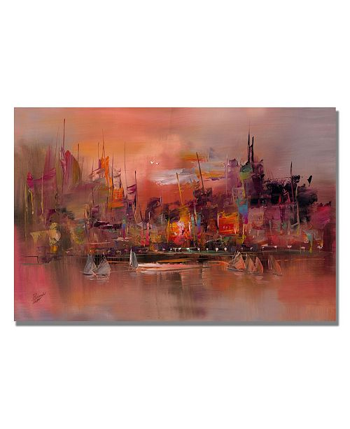 "Trademark Global Rio 'City Reflections IV' Canvas Art - 32"" x 22"""