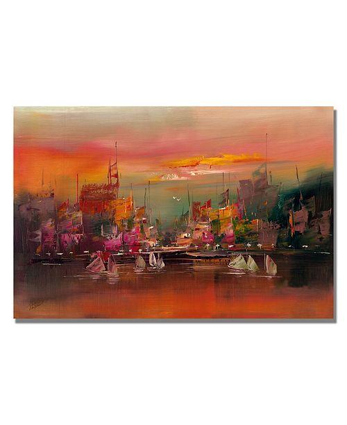 "Trademark Global Rio 'City Reflections III' Canvas Art - 47"" x 35"""