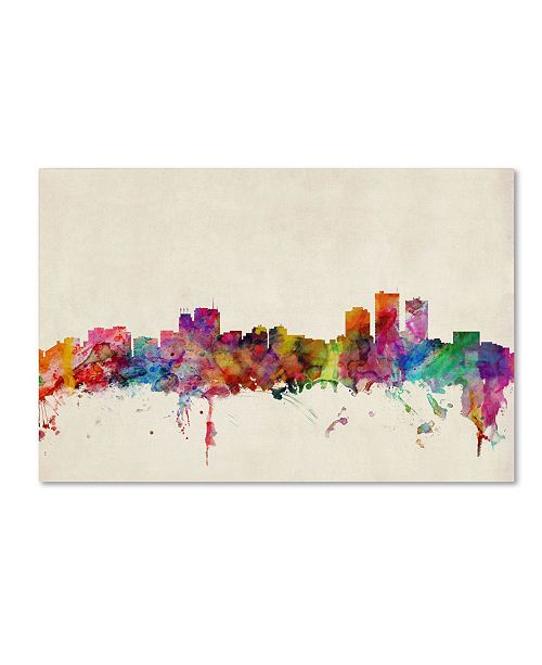 "Trademark Global Michael Tompsett 'Anchorage, Alaska' Canvas Art - 32"" x 22"""
