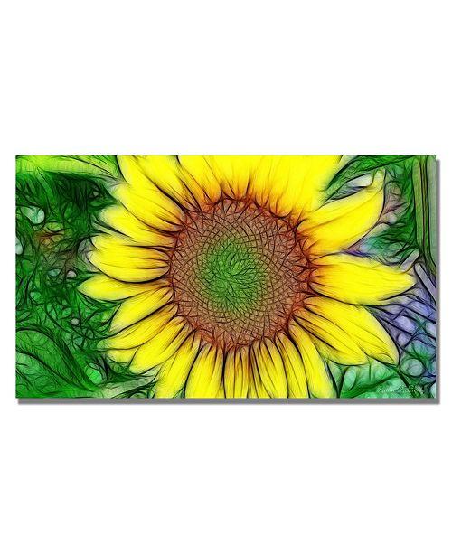 "Trademark Global Kathie McCurdy 'Sunflower' Canvas Art - 24"" x 16"""