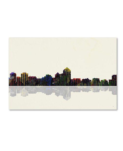 "Trademark Global Marlene Watson 'Albuquerque New Mexico Skyline' Canvas Art - 22"" x 32"""