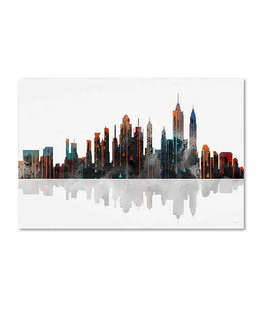 "Trademark Global Marlene Watson 'New York New York Skyline' Canvas Art - 30"" x 47"""