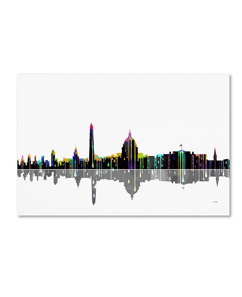 "Trademark Global Marlene Watson 'Washington DC Skyline' Canvas Art - 30"" x 47"""
