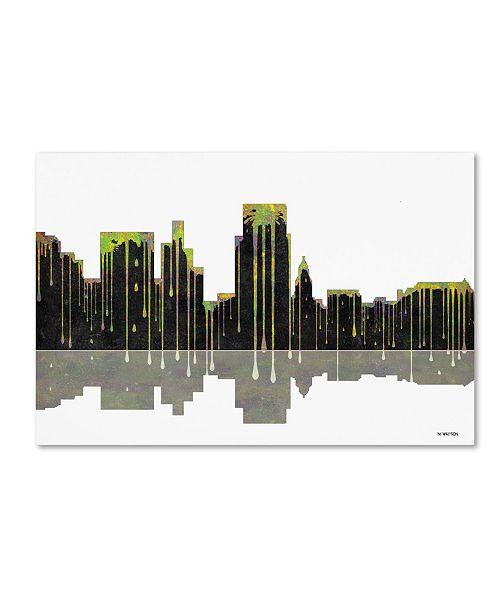 "Trademark Global Marlene Watson 'Boise Idaho Skyline II' Canvas Art - 30"" x 47"""