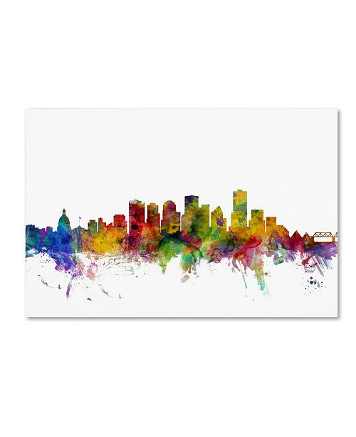 "Trademark Global Michael Tompsett 'Edmonton Canada Skyline' Canvas Art - 30"" x 47"""