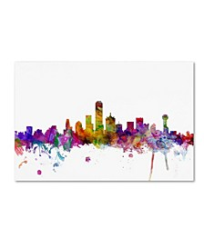 "Michael Tompsett 'Dallas Texas Skyline' Canvas Art - 30"" x 47"""