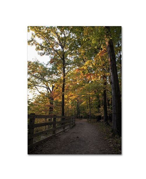 "Trademark Global Kurt Shaffer 'Perfect End to an Autumn Day' Canvas Art - 35"" x 47"""