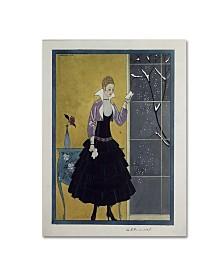 """Vintage Apple Collection 'Barbier Black Dress' Canvas Art - 14"""" x 19"""""""