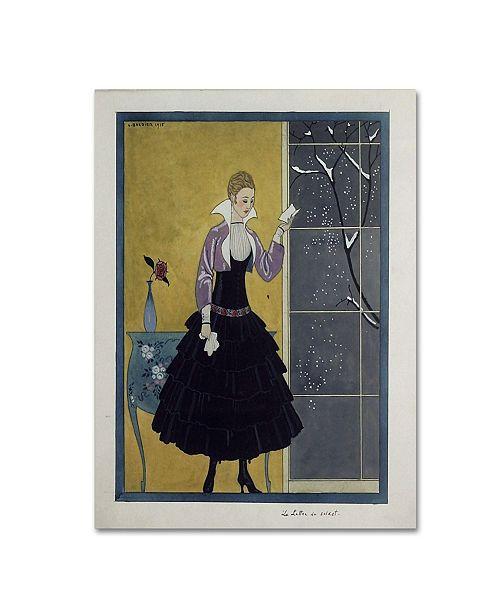 "Trademark Global Vintage Apple Collection 'Barbier Black Dress' Canvas Art - 14"" x 19"""