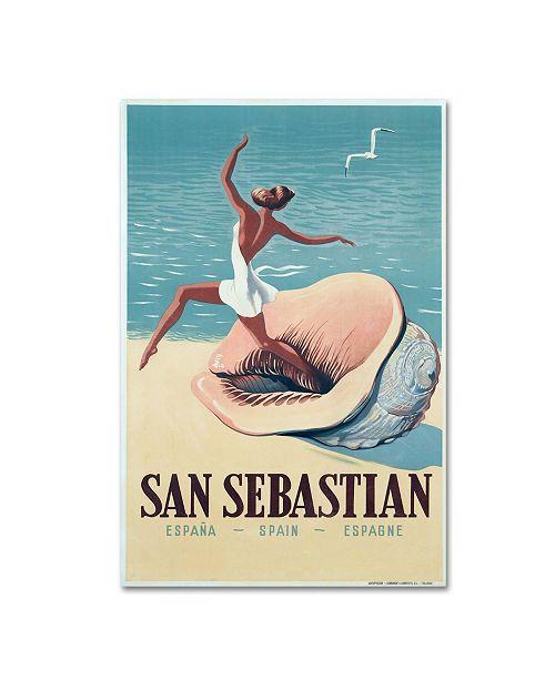 "Trademark Global Vintage Apple Collection 'San Sebas' Canvas Art - 12"" x 19"""