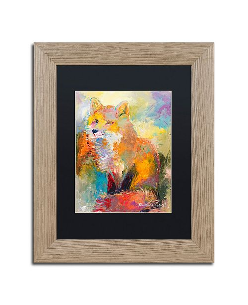"Trademark Global Richard Wallich 'Fox' Matted Framed Art - 11"" x 14"""