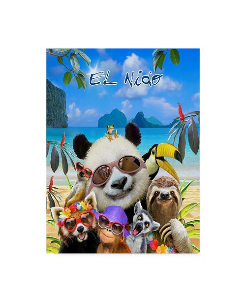 "Trademark Global Howard Robinson 'Jungle Beach' Canvas Art - 14"" x 19"""