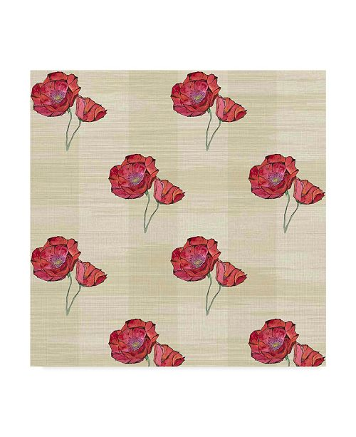 "Trademark Global Jessmessin 'Poppies Natural' Canvas Art - 14"" x 14"""