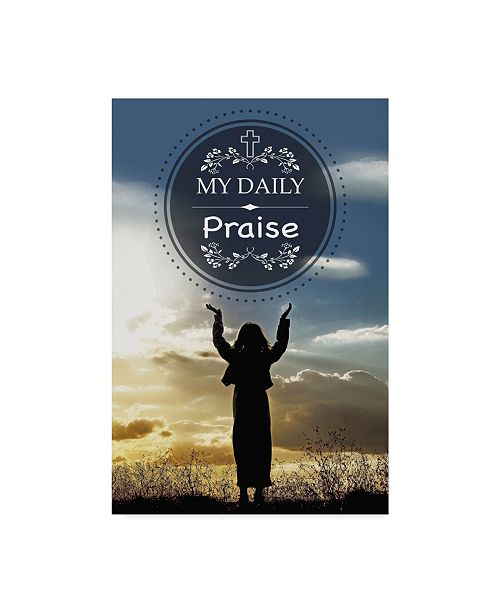 """Trademark Global Jean Plout 'My Daily Praise' Canvas Art - 12"""" x 19"""""""