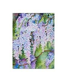 "Joanne Porter 'Wisteria' Canvas Art - 14"" x 19"""
