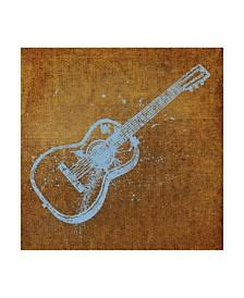 "John W. Golden 'Acoustic Guitar' Canvas Art - 14"" x 14"""