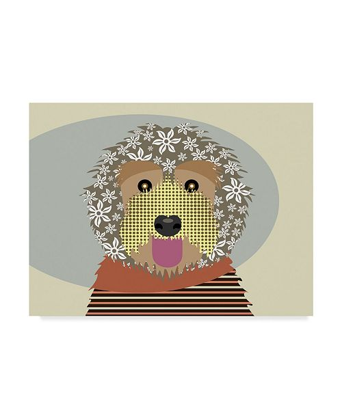 "Trademark Global Lanre Adefioye 'Labradoodle' Canvas Art - 14"" x 19"""