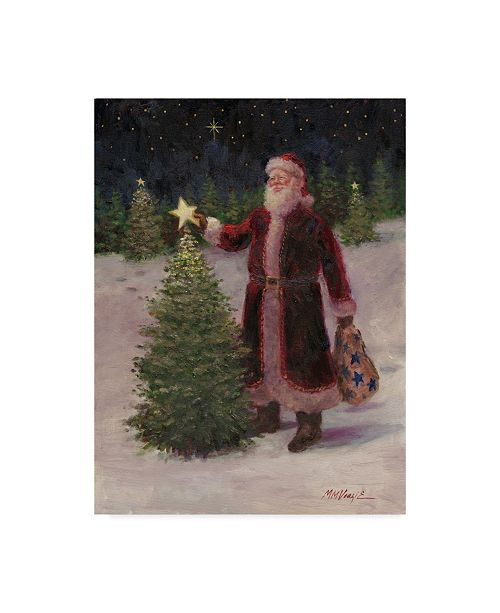 """Trademark Global Mary Miller Veazie 'Santa With Stars' Canvas Art - 14"""" x 19"""""""