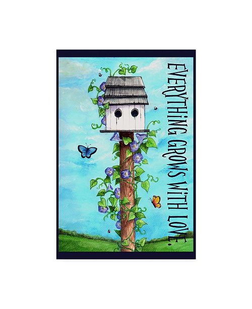 """Trademark Global Melinda Hipsher 'Everything Grows With Love' Canvas Art - 12"""" x 19"""""""