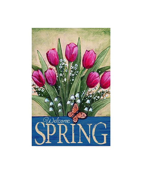 "Trademark Global Melinda Hipsher 'Welcome Spring Tulips' Canvas Art - 12"" x 19"""