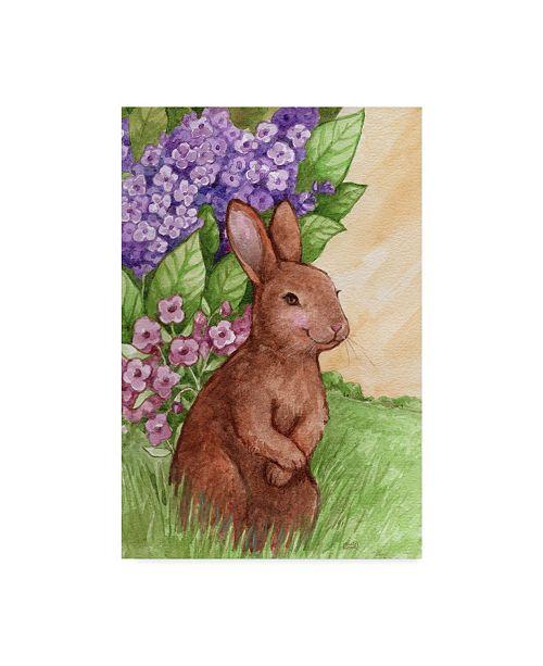 "Trademark Global Melinda Hipsher 'Bunny In Flowers' Canvas Art - 12"" x 19"""