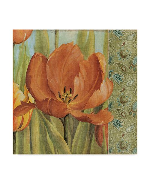 "Trademark Global Lisa Audit 'Tulip Paisley II' Canvas Art - 14"" x 14"""