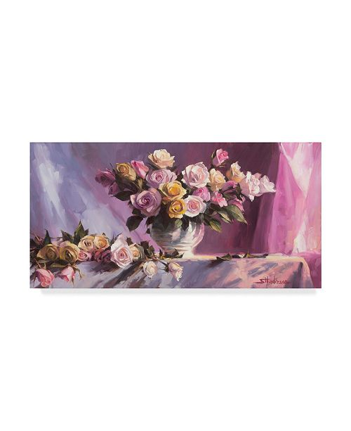 "Trademark Global Steve Henderson 'Rhapsody Of Roses' Canvas Art - 10"" x 19"""