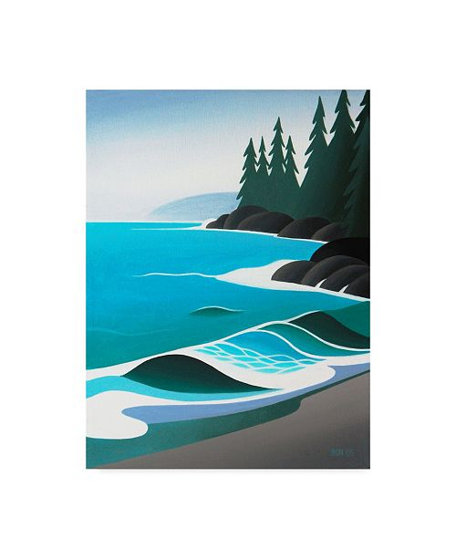 """Trademark Global Ron Parker 'Waves On The Sand' Canvas Art - 14"""" x 19"""""""