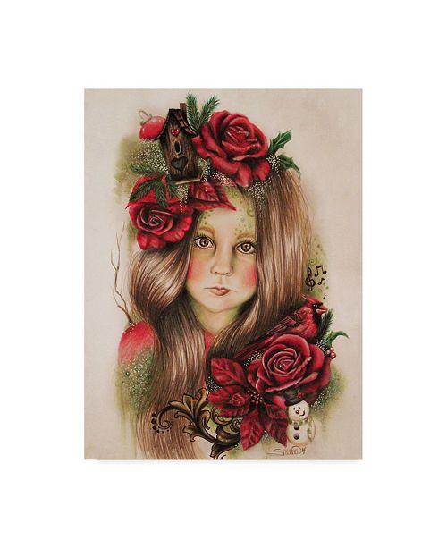 "Trademark Global Sheena Pike Art And Illustration 'Merry Christmas' Canvas Art - 14"" x 19"""
