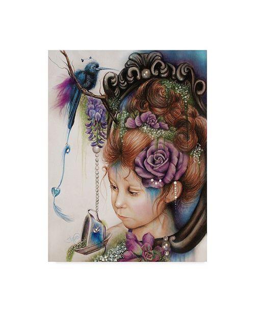 "Trademark Global Sheena Pike Art And Illustration 'Tea Periwinkle' Canvas Art - 14"" x 19"""