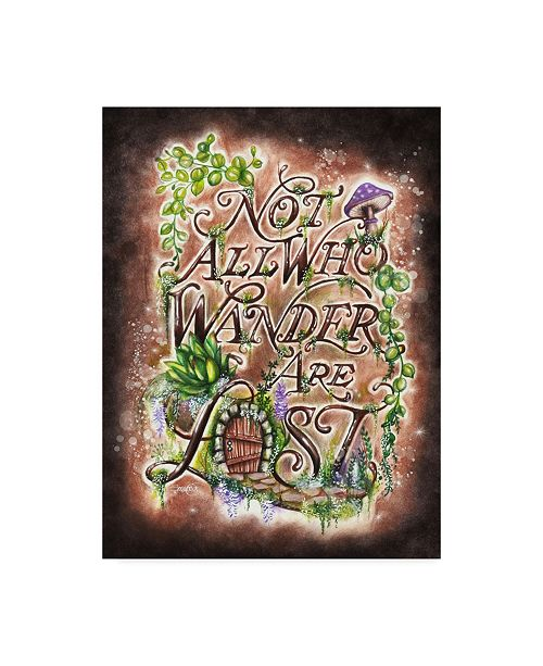"""Trademark Global Sheena Pike Art And Illustration 'Not All Who Wander' Canvas Art - 14"""" x 19"""""""