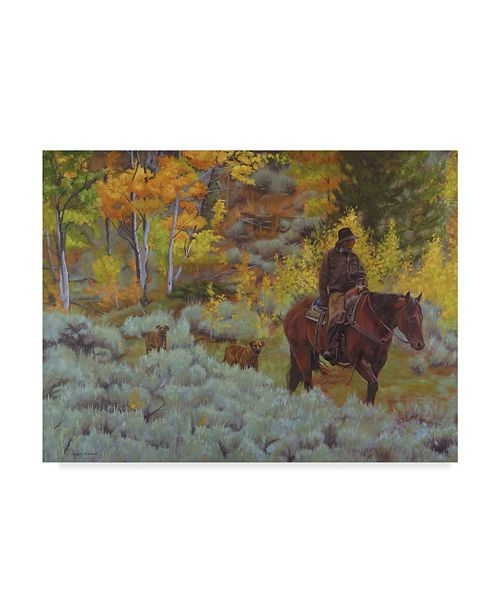 "Trademark Global Rusty Frentner 'Modern Day Cowboy' Canvas Art - 14"" x 19"""