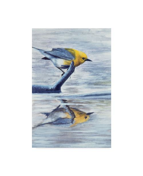 "Trademark Global Rusty Frentner 'Yellow Bird' Canvas Art - 12"" x 19"""